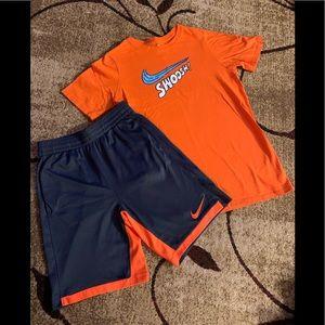 Boys Nike Dri-fit shorts and t shirt